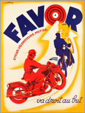 Premiumposter Favor Cycles Vélomoteurs Motos