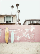 Premiumposter  Surfboards at the beach house - Sisi And Seb