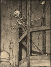 Canvastavla  Death in a Bell Tower - Edmund Joseph Sullivan