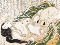 Canvastavla  The Dream of the Fisherman's Wife - Katsushika Hokusai