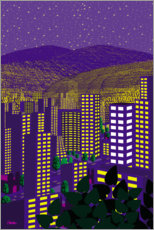 Premiumposter  Mexico City Night - Charles Harker