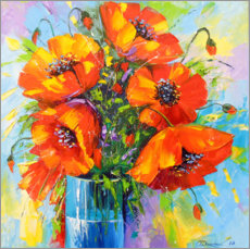Aluminiumtavla  Bouquet of poppies - Olha Darchuk