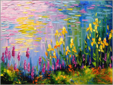 Premiumposter  Flowers at the summer pond - Olha Darchuk