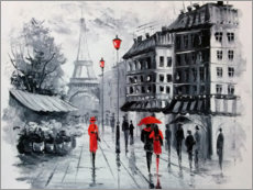 Galleritryck  The streets of Paris - Olha Darchuk
