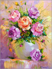 Galleritryck  Bouquet of delicate roses - Olha Darchuk