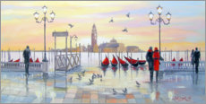 Akrylglastavla  In the morning in Venice - Olha Darchuk