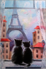 Akrylglastavla  Together in Paris - Olha Darchuk