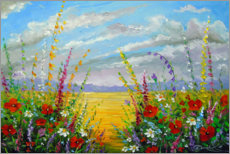 Canvastavla  Summer flowers in the field - Olha Darchuk