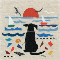 Premiumposter  Dog by the sea - Jenny Frean