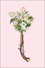 Premiumposter Revolver with flowers
