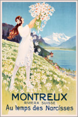 Canvastavla  Montreux (French) - Travel Collection