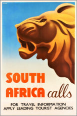 Premiumposter  South Africa calls (English) - Travel Collection