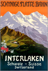 Premiumposter  Interlaken - Travel Collection