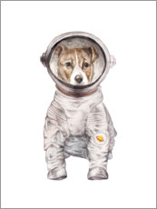 PVC-tavla  Laika the Space Pup - Wandering Laur