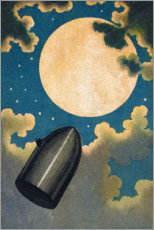 Premiumposter  From the earth to the moon - Emile Antoine Bayard