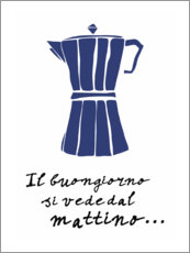 Premiumposter  A good day can be seen in the morning (Italian) - Patruschka