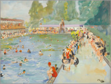 Premiumposter  In the swimming pool (Chiswick Baths) - Sir John Lavery