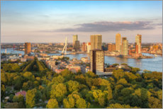 Galleritryck  Evening sun in Rotterdam - Michael Valjak