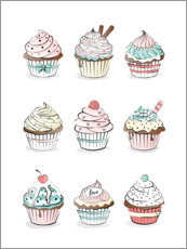 Canvastavla  Cupcakes - Martina illustration