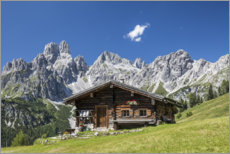 Galleritryck  Alpine hut in the Austrian Alps - Gerhard Wild