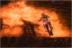 Canvastavla  Motocross in the mud - Salkov Igor