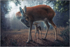 Premiumposter Mother and fawn