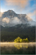 Poster  In the morning at the Eibsee - Michael Valjak