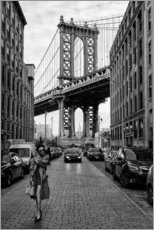 Aluminiumtavla  Brooklyn with Manhattan Bridge - Robert Bolton