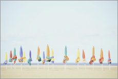 Premiumposter Colourful beaches of Normandy