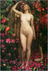 Akrylglastavla  The Woman, the Man and the Serpent - Byam Shaw