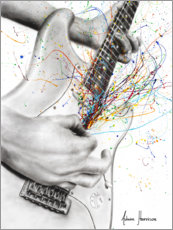 Canvastavla  The Guitar Solo - Ashvin Harrison