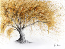 Premiumposter Tree with golden luster