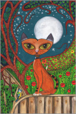 Premiumposter The cat and the moon