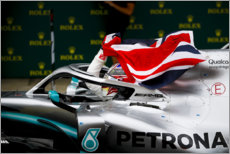 Canvastavla  Lewis Hamilton, British GP 2019