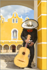 Premiumposter  Mexican Mariachi with his guitar - Matteo Colombo