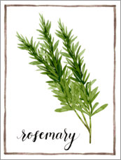 Akrylglastavla  Herbal illustration rosemary - Grace Popp