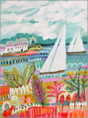 Premiumposter Two Sailboats and Cottage II