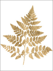 Aluminiumtavla  Graphic Gold Fern I - Studio W