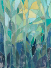 Aluminiumtavla  Stained Glass Forest I - Grace Popp