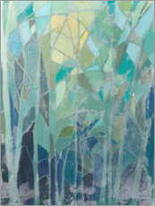 Aluminiumtavla  Stained Glass Forest II - Grace Popp