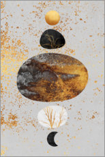 Premiumposter  Sun And Moon - Elisabeth Fredriksson