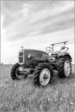 Canvastavla  Tractor MAN type 4K1 on the field - Bernd Wittelsbach