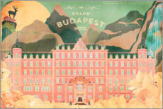 Canvastavla  The Grand Budapest Hotel - Ella Tjader