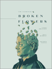 Akrylglastavla  Broken Flowers - Fourteenlab