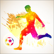Canvastavla  Soccer player silhouette - TAlex