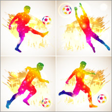 Canvastavla  Footballer collage - TAlex