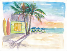 Akrylglastavla  Surf bar on the beach in the Caribbean - M. Bleichner