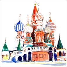 Premiumposter St. Basil's Cathedral, Moscow