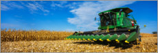 Premiumposter Harvester at harvest