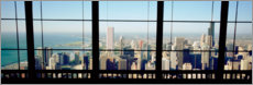 Canvastavla  See Chicago through a window